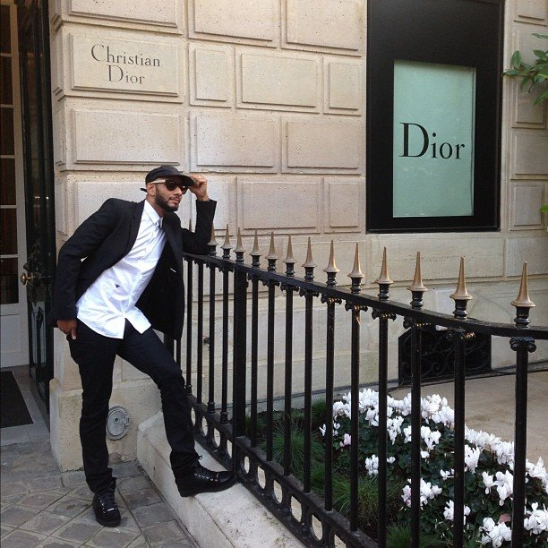 Swizz Beatz stopped by the Christian Dior store in Paris. Source: Instagram user therealswizz