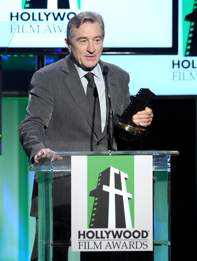 Robert De Niro was on stage at the Hollywood Film Awards gala in Los Angeles.