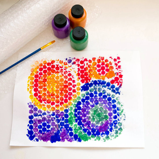Make Bubble Wrap Paint Prints