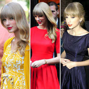 Pictures of Taylor Swift Wearing Red Lipstick Plus How to Apply Red Lipstick
