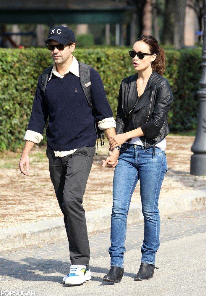 Olivia Wilde and Jason Sudeikis strolled through Rome.