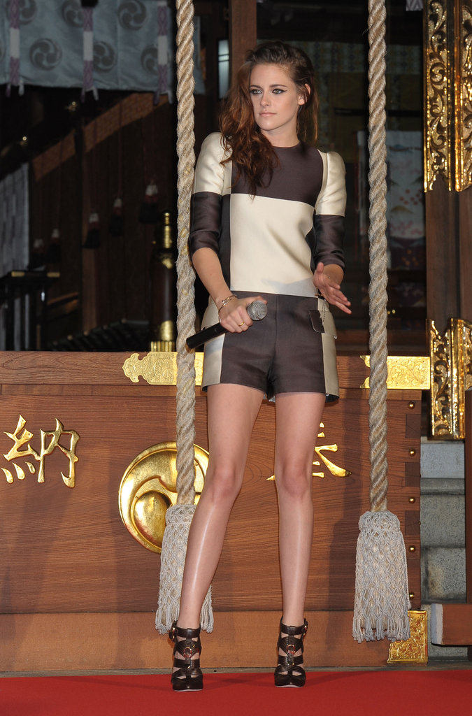 Kristen Stewart stepped out in Japan.