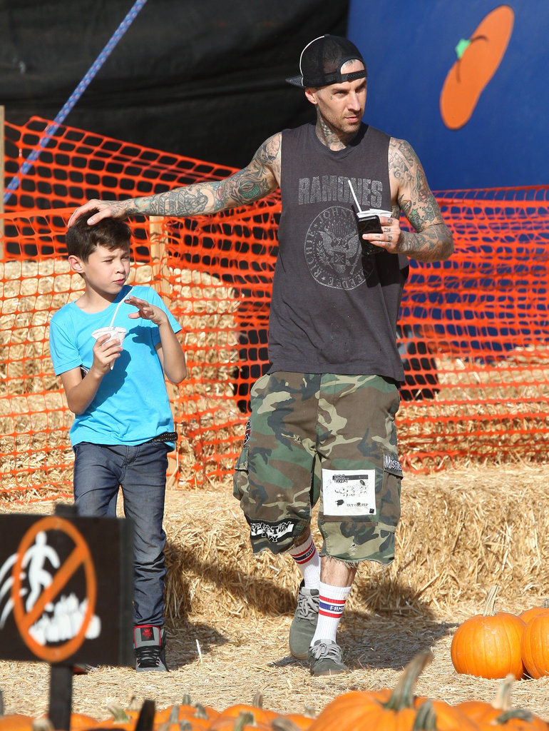 Travis Barker and his son, London, spent time together at an LA pumpkin patch.