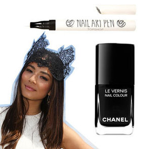 Copy Jessica Gomes's Fascinator With Lace Nail Art
