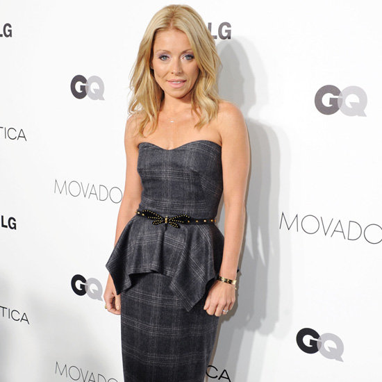 Kelly Ripa Wearing Plaid Dress