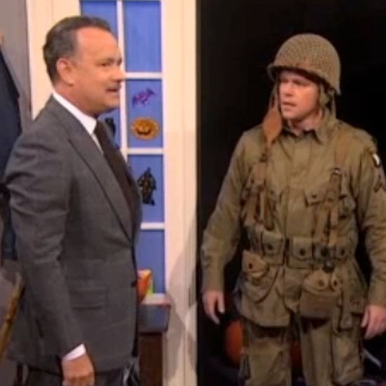 Tom Hanks and Matt Damon on The Colbert Report (Video)