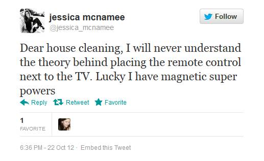 Jessica McNamee appreciates the little things in life.