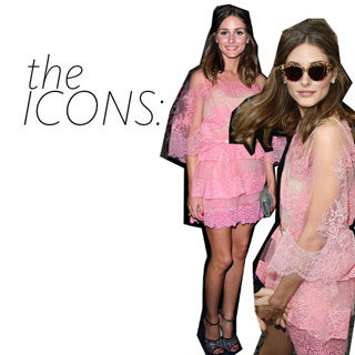Olivia Palermo in Pink Lace Valentino in Paris