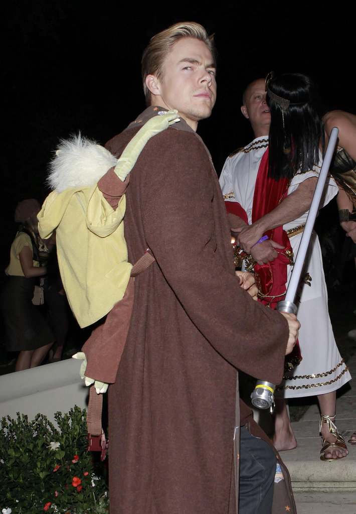 Derek Hough chose a Star Wars-themed outfit for an LA party on Friday.
