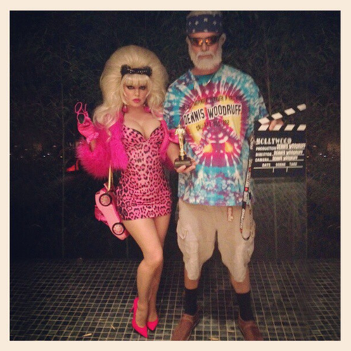 Fergie and Josh Duhamel were Angelyne and Dennis Woodruff.  Source: Instagram user fergie