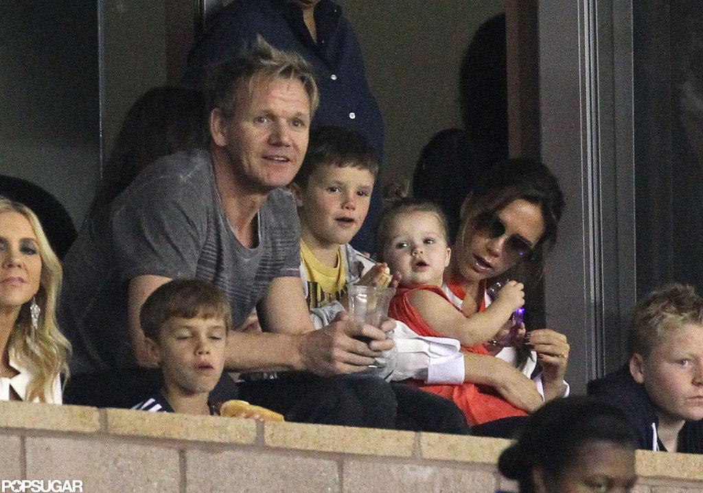 Gordon Ramsay and Victoria Beckham watched the LA Galaxy play in LA.