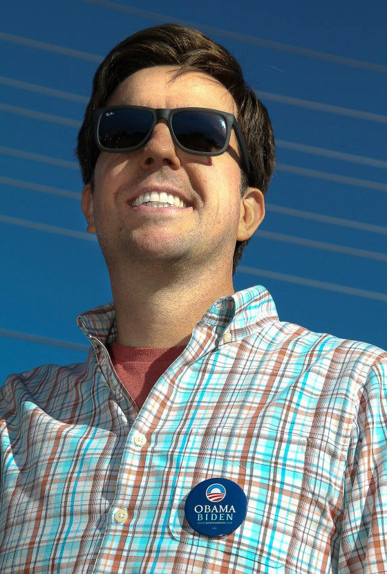 Ed Helms attended a voting event in Las Vegas during a break from shooting The Hangover 3.  Source: Facebook user Obama For America