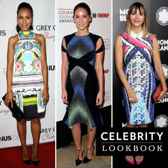 Celebrities Wearing Digital Print Dresses 2012