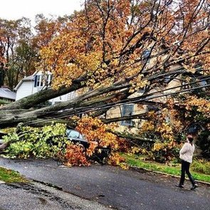 Fashion People's Pictures of Hurricane Sandy