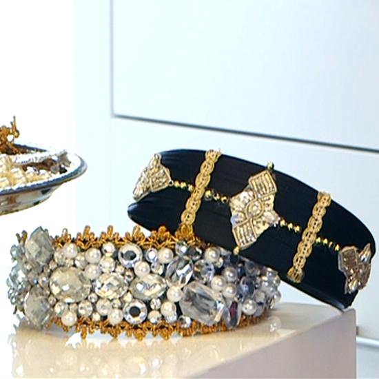 Video: How To Make a Dolce & Gabbana Embellished Headband