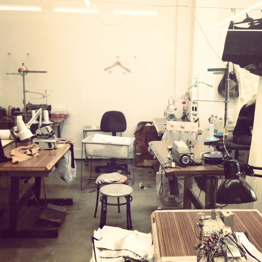 Where the magic all starts. The work-room at Lisa Ho's Surry Hills head office.