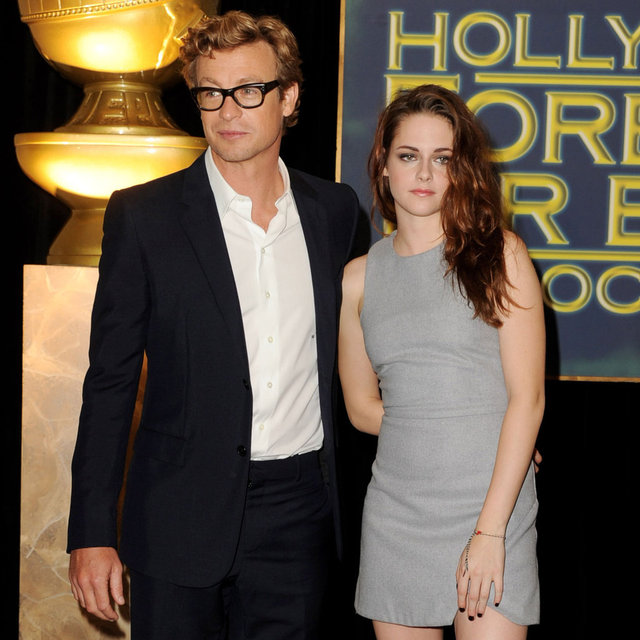 Kristen Stewart In Bec & Bridge Dress With Simon Baker