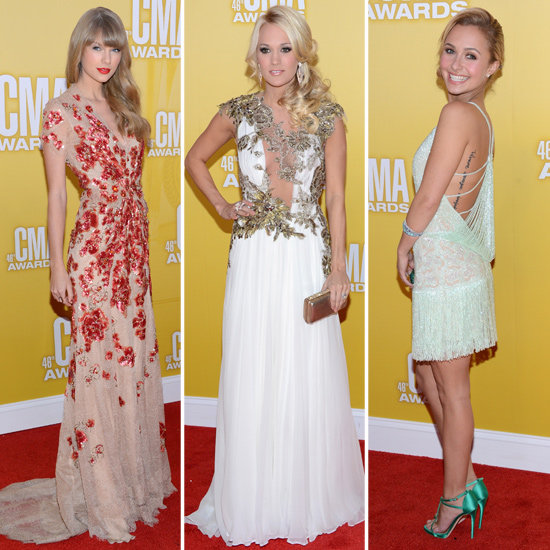 Taylor, Carrie, and Hayden Shine on CMA Awards Red Carpet
