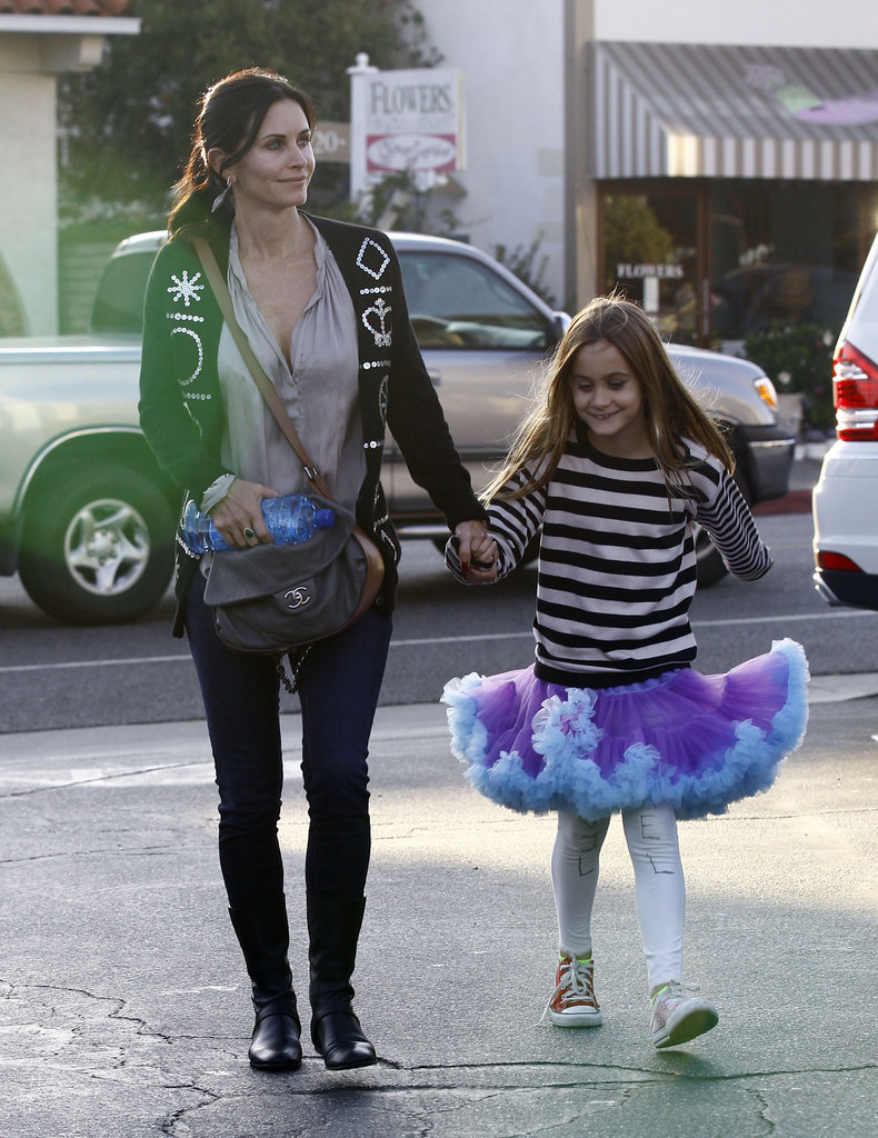 Courteney Cox and Coco Arquette crossed the street.