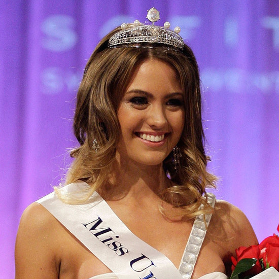 She suits that tiara, no? At the Miss Universe Pageant in 2010.