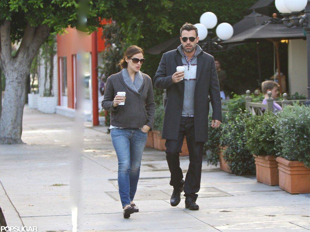 Ben Affleck joined Jennifer Garner for coffee.