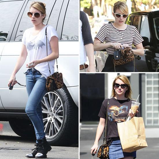 Emma Roberts's Leopard-Print Bag