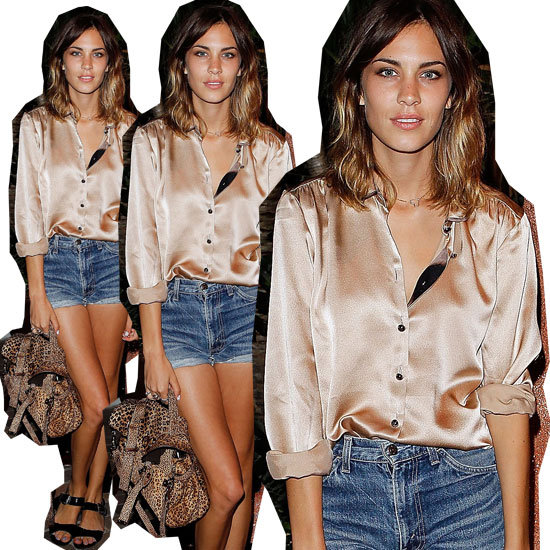 Copy Alexa Chung's Iconic and Sexy Denim Cut-Offs Look