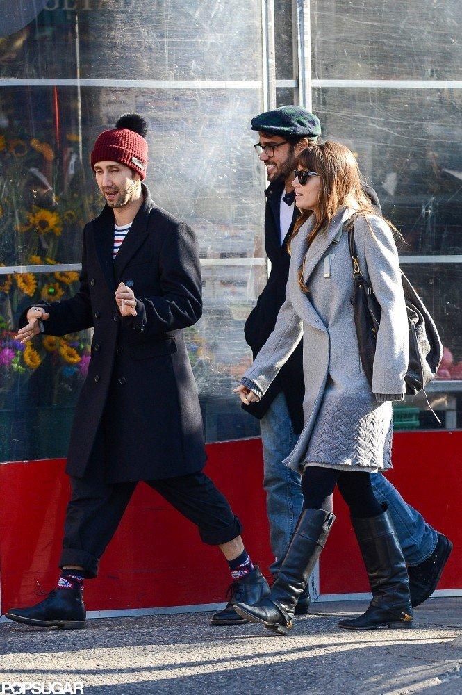 Jessica Biel took a walk with friends in NYC.