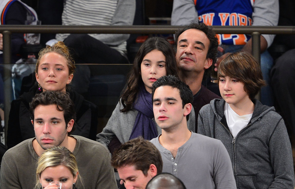 Mary-Kate Olsen and Olivier Sarkozy watched the Knicks game together.