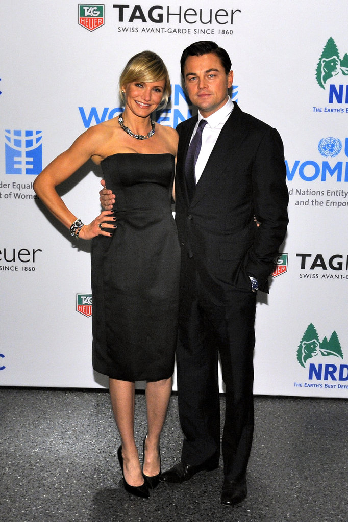 Cameron Diaz and Leonardo DiCaprio attended a Tag Heuer event.