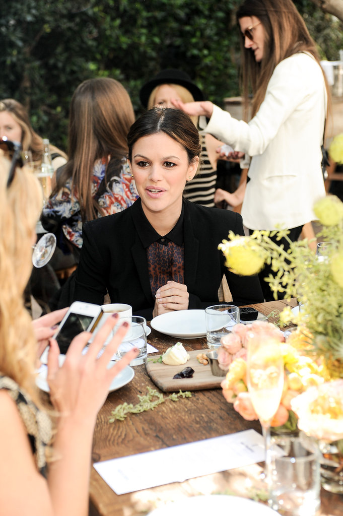 Rachel Bilson chatted at her table.