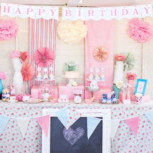 shabby chic princess birthday party popsugar moms. Black Bedroom Furniture Sets. Home Design Ideas