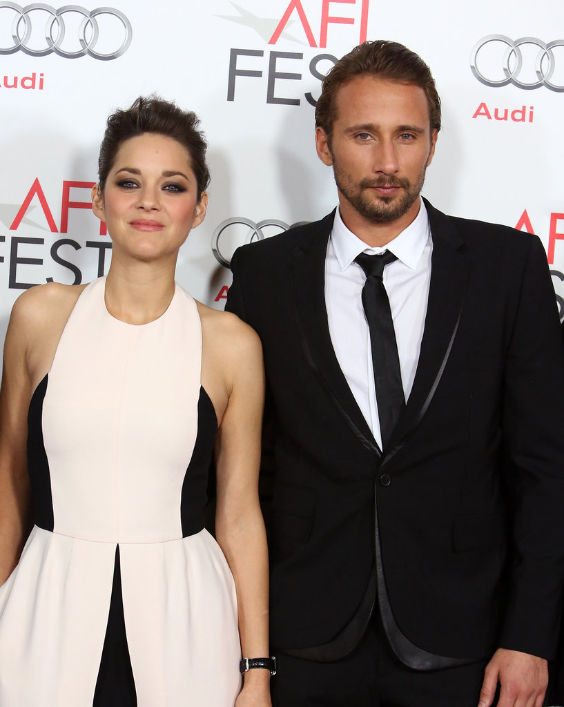 Marion Cotillard and Matthias Schoenaerts hit the red carpet for a screening of their film Rust and Bone.