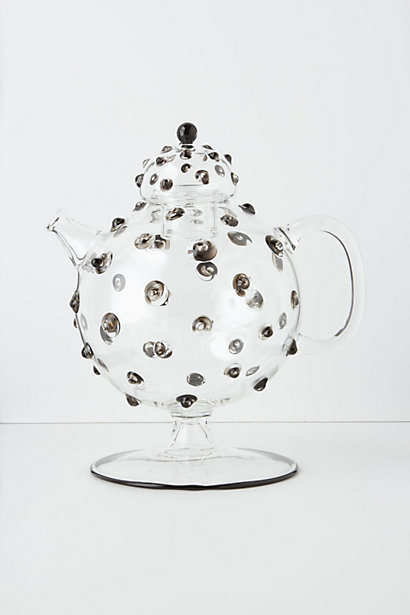 Hobnail Glass Tea Pot