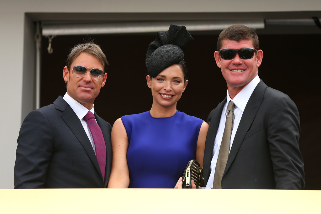 2012: Shane Warne, Erica and James Packer