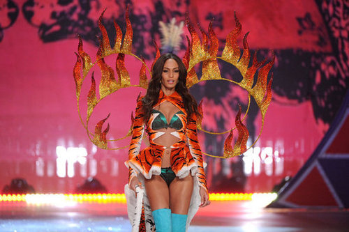 Joan Smalls walked in the Victoria's Secret Fashion Show in NYC.