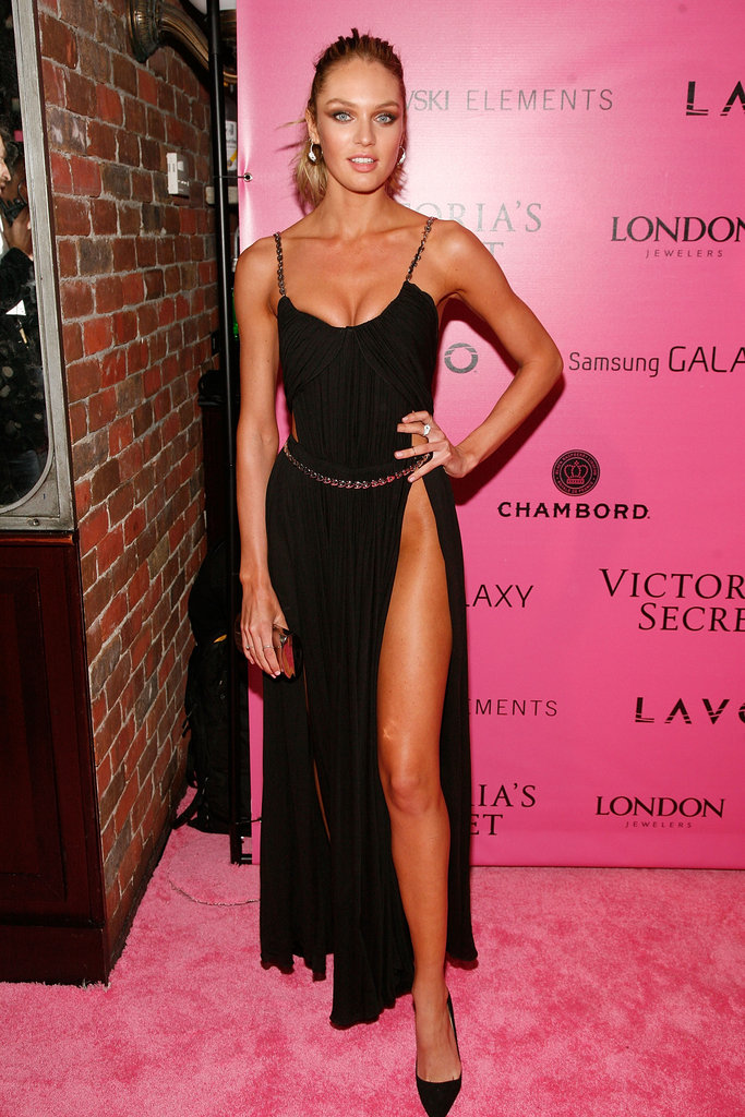 Candice Swanepoel chose a black dress to attend the event in NYC.