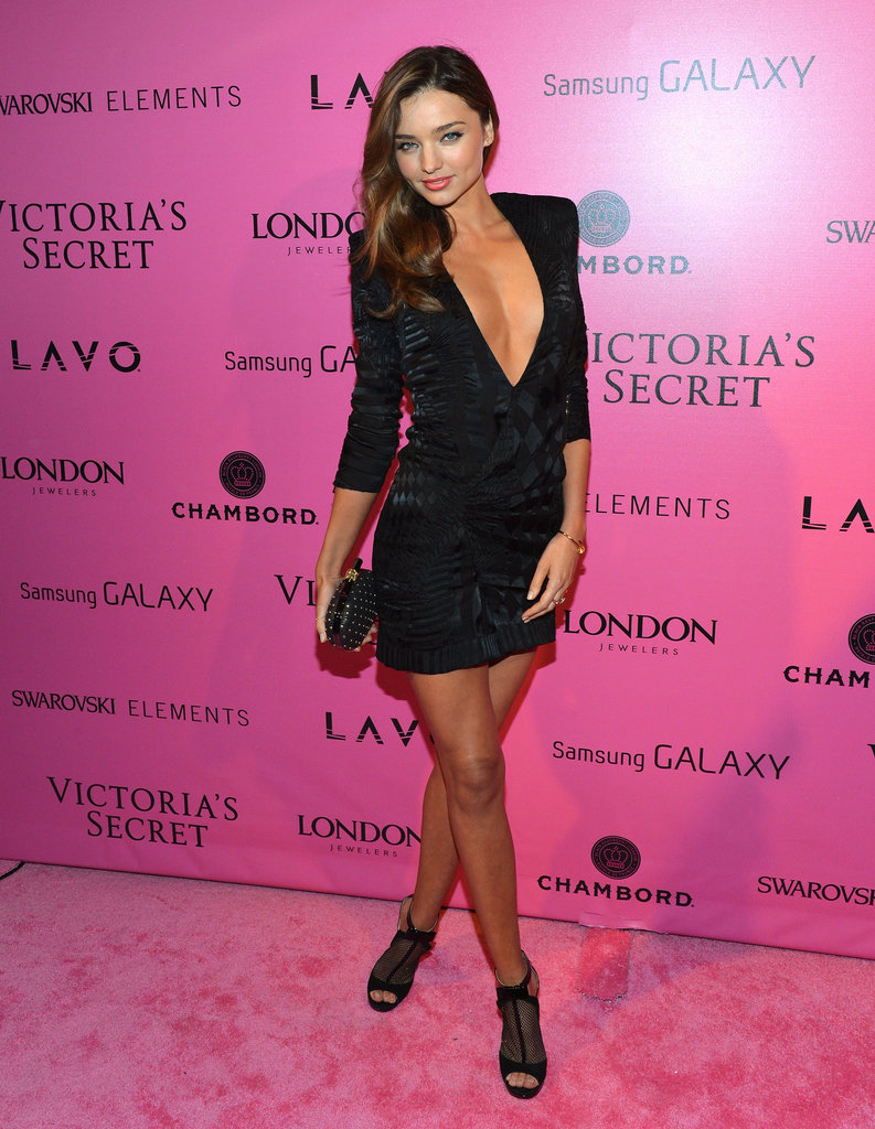 Miranda Kerr chose a plunging neckline to attend the event in NYC.