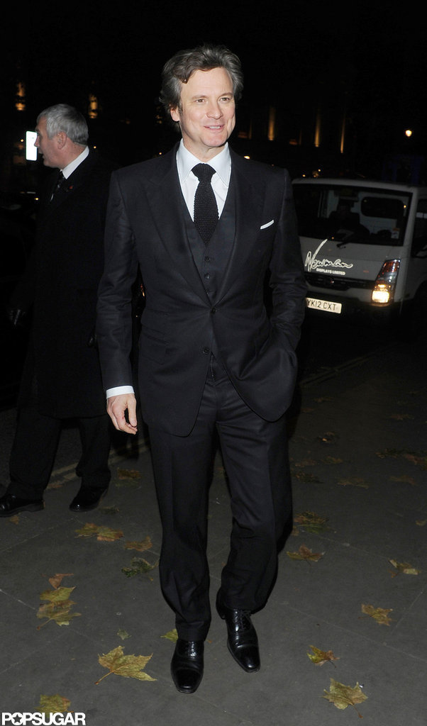 Colin Firth stepped out in London to celebrate the opening of Gambit.
