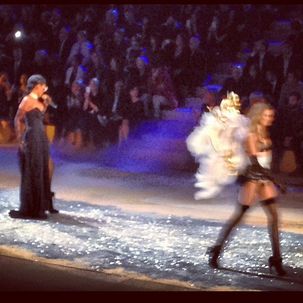 Rihanna took the stage while models walked.  Source: Instagram user marytom