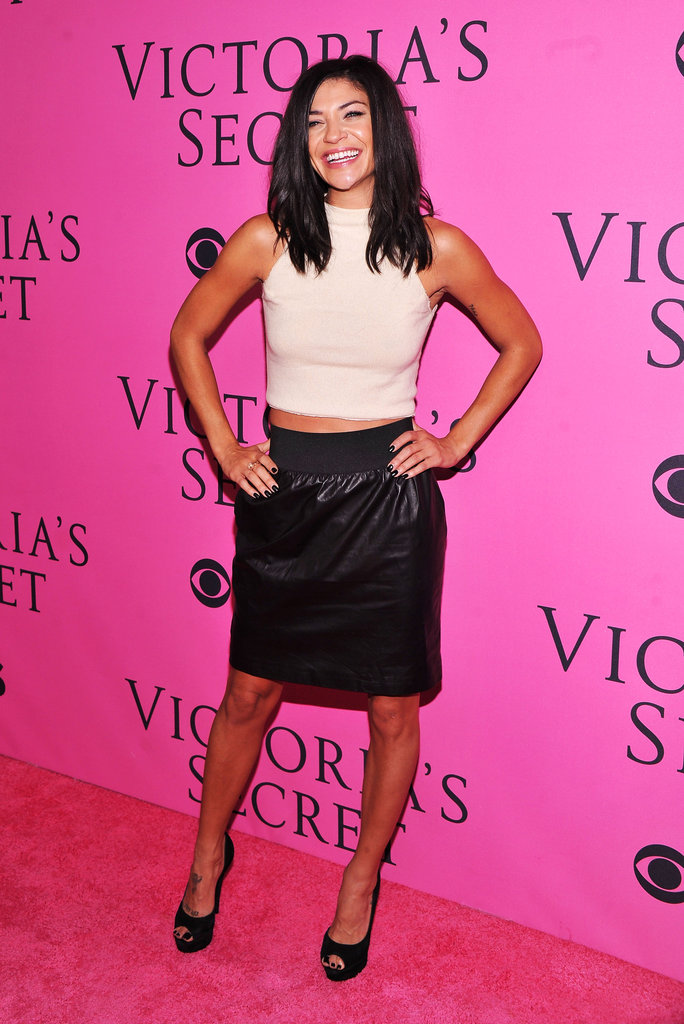 Jessica Szohr stepped out for the afterparty fun in a cropped knit and a leather skirt.