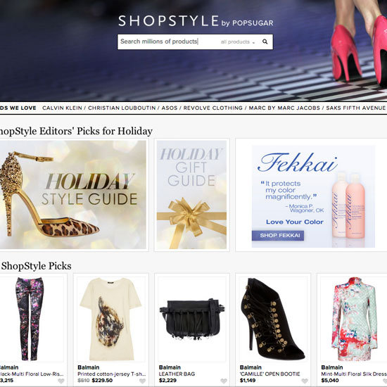 Details on ShopStyle Redesign 2012