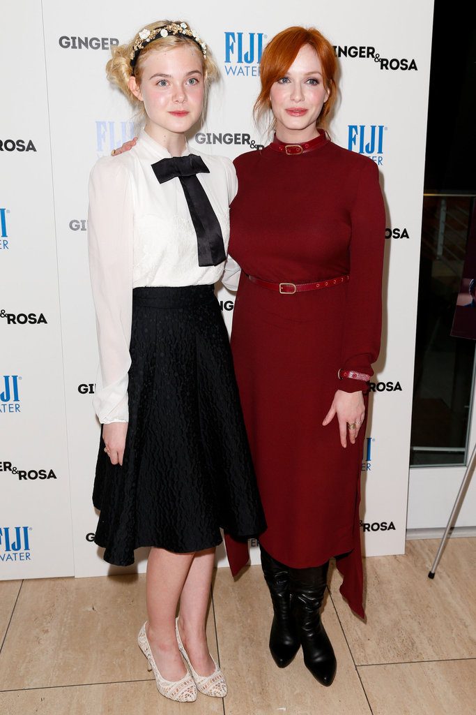 Elle Fanning and Christina Hendricks got together for a photo.