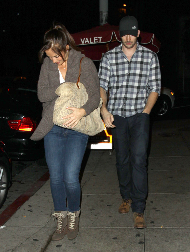 Minka Kelly and Chris Evans were out in LA.