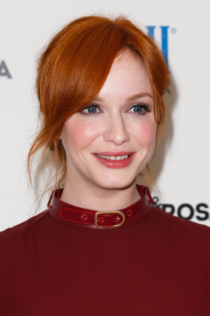 Christina Hendricks looked stunning at the screening.