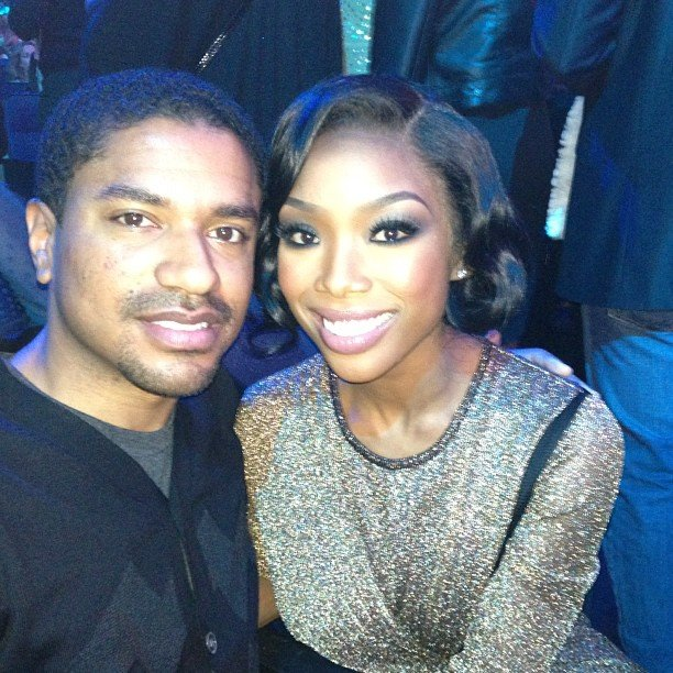 Brandy cosied up to a friend inside the Nokia Theatre. Source: Instagram user 4everbrandy