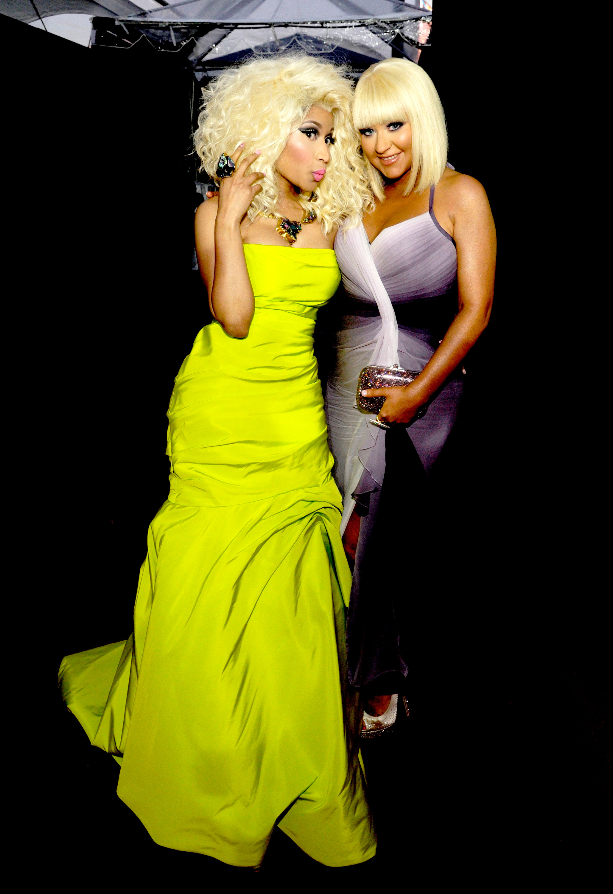 Nicki and Christina let loose.