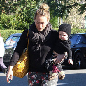 Hilary Duff and Luca Comrie Grocery Shopping in LA
