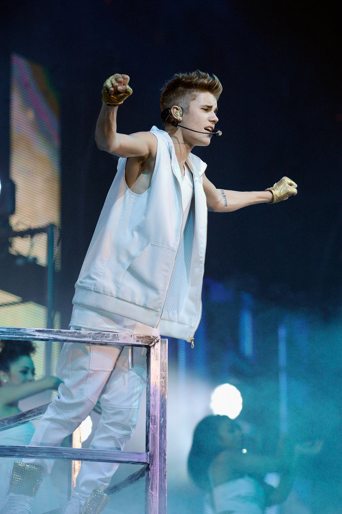 Justin Bieber belted it out for the Boston crowd.