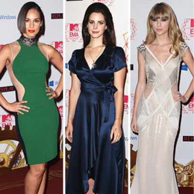 Lana Del Rey, Taylor Swift, Rita Ora Style At 2012 MTV EMAs